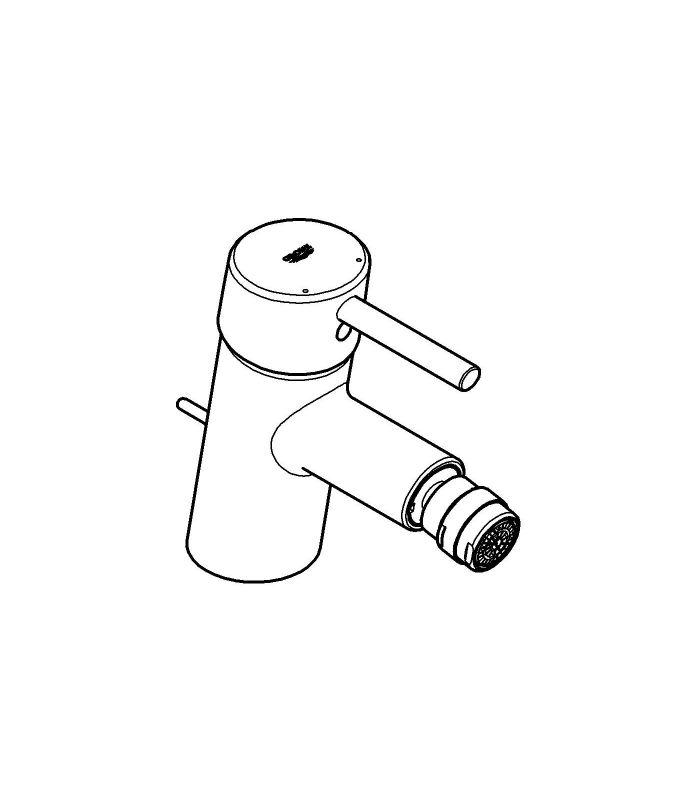 Griferia Para Baño Grohe:Grifería para baño Grohe Concetto monom bidé 28mm vaciador M