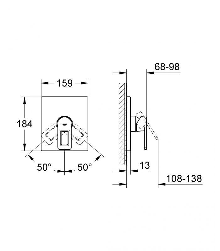 Griferia Para Ducha Grohe:Monomando GROHE ducha Monomando de ducha Quadra de Grohe de 1/2″