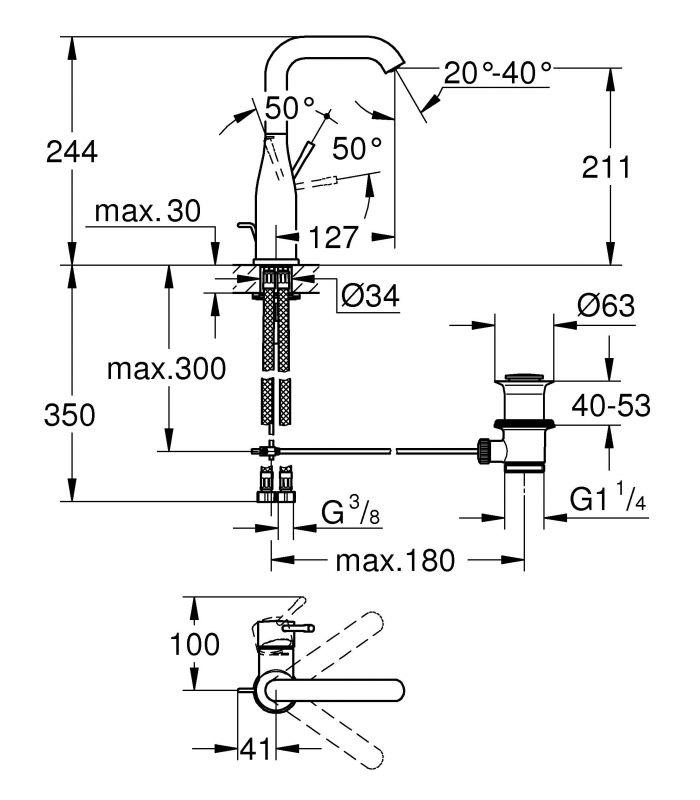 Griferia Para Baño Ofertas: para baño Grohe Essence monomando de lavabo c/alto 28mm vaciador L