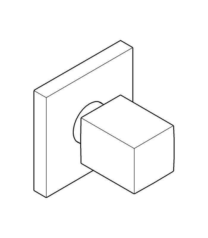 Griferia Para Baño Exterior: Grifería para baño Grohe Cube llave de paso UNIVERSAL parte exterior