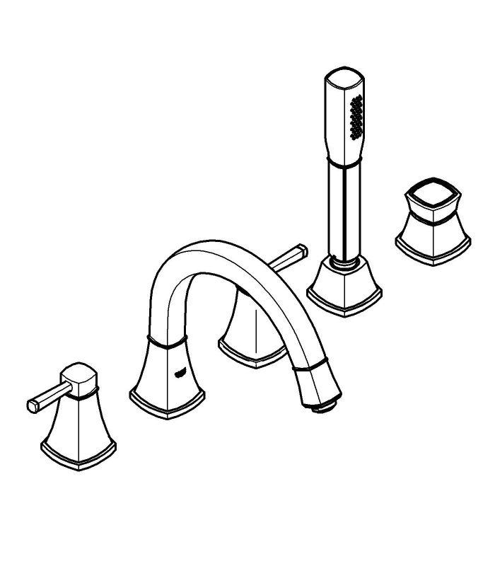 Griferia Para Baño Grohe:Monomando GROHE ducha Grandera Combinación Cromo Oro para baño y