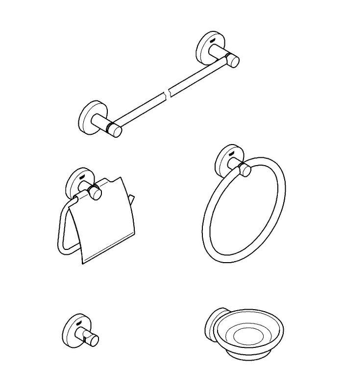 Accesorios De Baño Grohe:GROHE > ACCESORIOS BAÑO GROHE > Accesorios de baño Grohe Set de