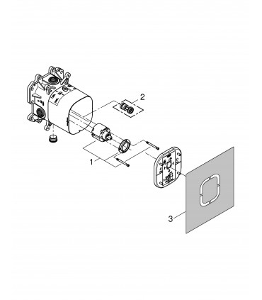 Mecanismo y sistema empotrado Grohe Rapido E parte interior universal monomandos empotrados