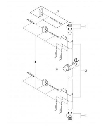 Sistema de ducha Grohe Rainshower barra de ducha 900