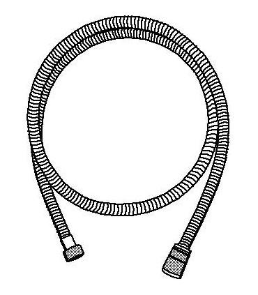 Flexo de ducha metálico Grohe Rotaflex Longlife Twistfree de 1,5 metros