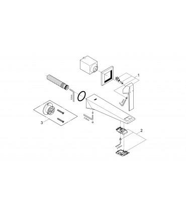 Monoomando Grohe para empotrar de la gama ALLURE BRILLANT con CAÑO 220M talla M (19783000)