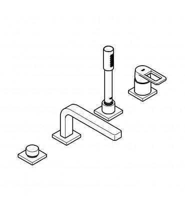 Grifería para baño Grohe Quadra Comb. Monom. Bañera 4 agujeros