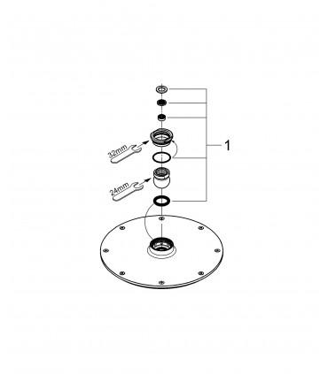Sistema de ducha Grohe Rainshower 210 cosmo ducha mural ECOJOY (2836800E)