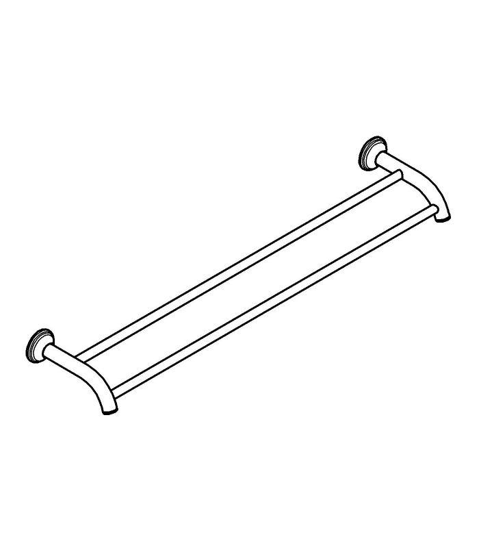 Accesorios de ba o grohe toallero doble 60 cm rustico - Accesorios bano rustico ...