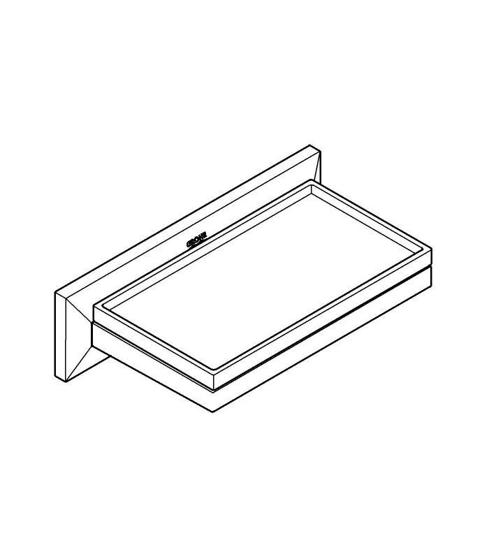 Accesorios de ba o grohe allure brilliant jabonera con estante for Accesorios para banos jaboneras