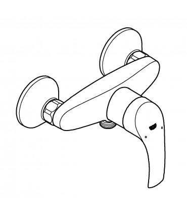 Grifería para baño Grohe Eurosmart monomando de ducha (33555002)