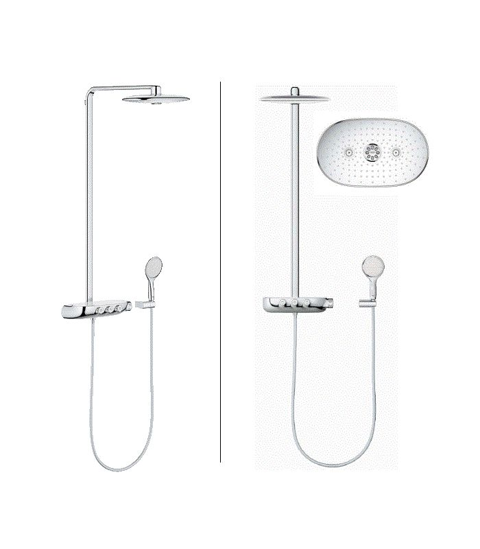 grohe rainshower system smartcontrol 360 duo ref 26250000. Black Bedroom Furniture Sets. Home Design Ideas
