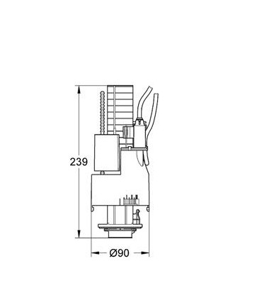 Válvula de descarga Grohe Dual Flush 1,00m / 0,80m 42774