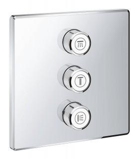 Grohtherm SmartControl Placa con triple llave de paso