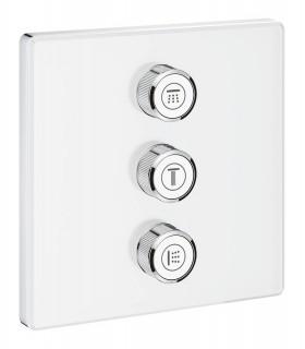 Grohtherm SmartControl Placa con triple llave de paso blanca