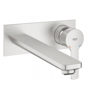 Comprar Lineare monom lavabo mural caño 215 mm DC Supersteel mate Grohe (23444DC1)