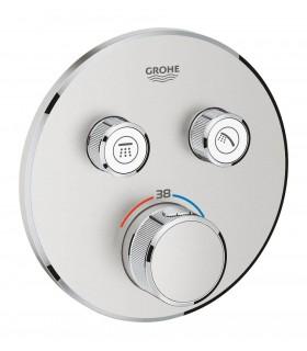 Termostato Smartcontrol 2 salidas redondo Supersteel mate Grohe (29119DC0)