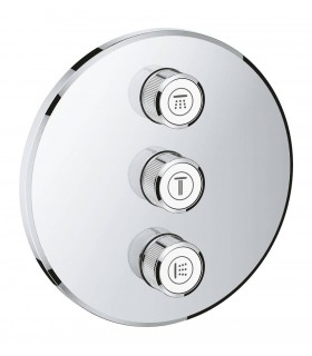 Grohe Grohtherm SmartControl Placa con triple llave de paso Redondo (Ref. 29122000)