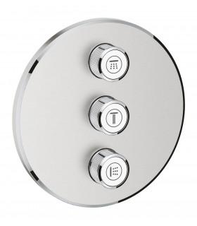 Inversor 3 llaves de paso Smartcontrol redondo Supersteel mate Grohe (29122DC0)