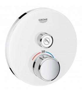 Termostato SmartControl 1, cristal blanco redondo Grohe (29150LS0)