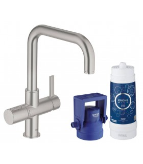 GROHE Blue Pure caño U Supersteel mate Grohe (31299DC1)