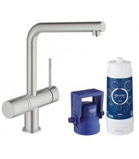GROHE Blue Pure caño L Supersteel mate Grohe (31345DC2)