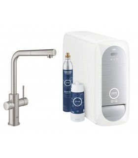 GROHE Blue Home Pull out caño L. Supersteel mate Grohe (31539DC0)