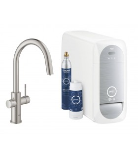 GROHE Blue Home Pull out caño C. Supersteel mate Grohe (31541DC0)