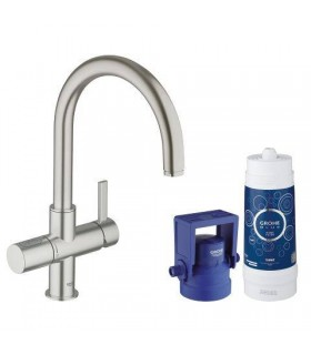GROHE Blue Pure caño C Supersteel mate Grohe (33249DC1)