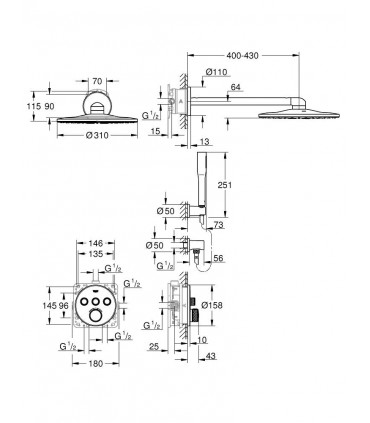 SmartControl Termostato 3, redondo Grohe (34705000)