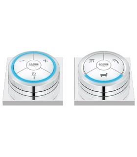 Grifo GROHE de lavabo GROHE Controlador digital e inversor digital para baño con base cuadrada