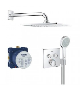 Grohe Conjunto completo Smartcontrol ducha mural cuadrada 310, sc cuadrado con soporte (34742000)