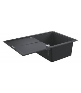 Grohe K400 Fregadero composite con escurridor (31639AP0) color Negro Granito