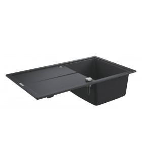 Grohe K400 Fregadero composite con escurridor (31640AP0) color Negro Granito