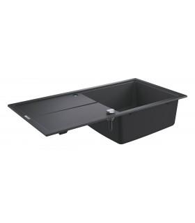 Grohe K400 Fregadero composite con escurridor (31641AP0) color Negro Granito