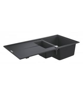 Grohe K400 Fregadero composite con escurridor (31642AP0) color Negro Granito