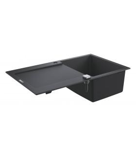 Grohe K500 Fregadero composite con escurridor (31644AP0) color Negro Granito