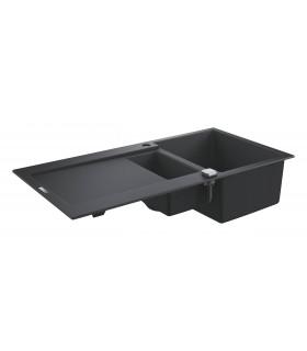 Grohe K500 Fregadero composite con escurridor (31646AP0) color Negro Granito