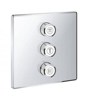 Grohe Grohtherm SmartControl Placa con triple llave de paso Cuadrado (Ref. 29127000)