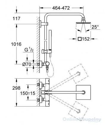 Sistema de ducha GROHE Euphoria Cube Sistema de ducha Grohe