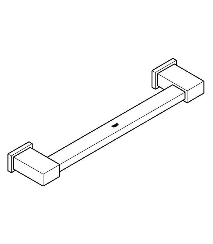 Accesorio de ba o grohe essentials cube asidero de ba era 40514001 - Accesorios para baneras ...